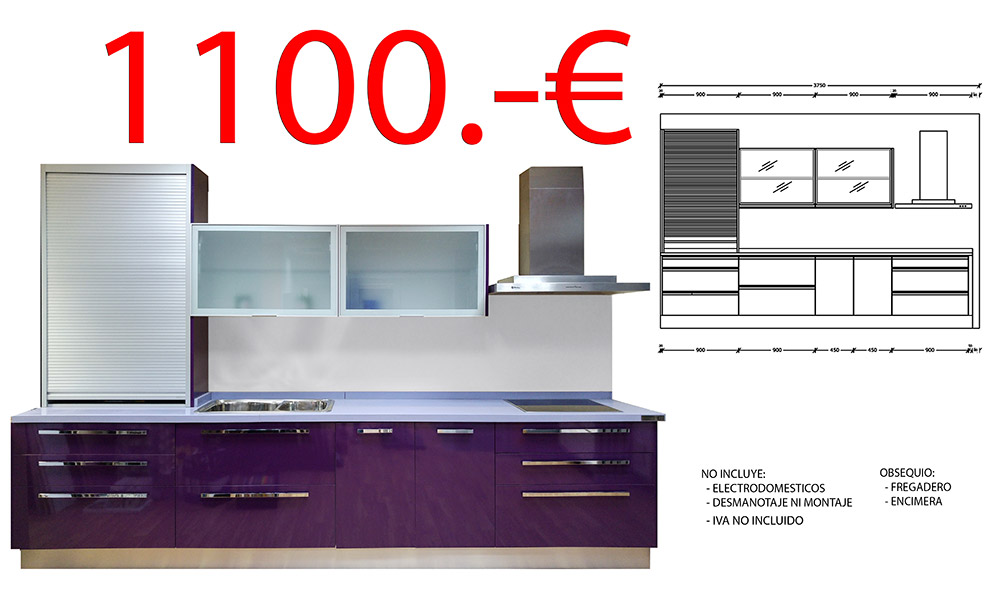 Ofertas en muebles de cocina por liquidacion en mostoles for Ofertas encimeras cocina